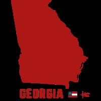 Georgia usa drmaps flag r
