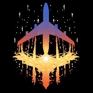 Flugzeug und Wolken