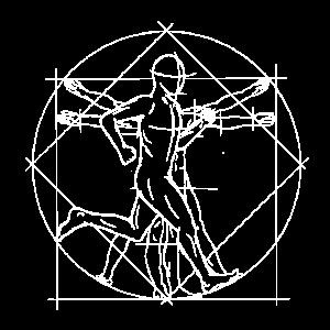 Vitruvianischer Mensch Läufer Anatomie Zeichnung