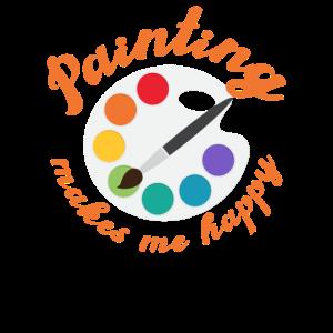 Painting makes me happy - Malen, Zeichnen, Maler