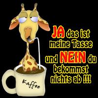 Giraffe im Kaffee