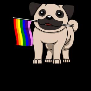 Mops LGBTQ Homo Schwul Lesbisch Queer Geschenk