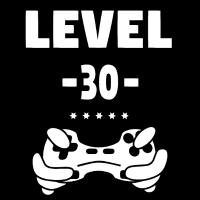 Level 30! Klasse Shirt zum 30. Geburtstag
