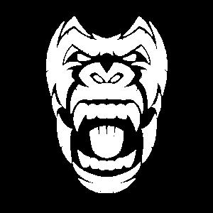 Gorilla Design in Weiß