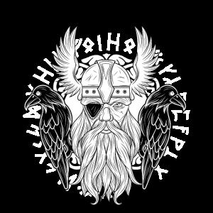 Odin Raben Huginn Muninn walhalla Rabe Geschenk