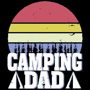 Camping Dad Vintage Retro