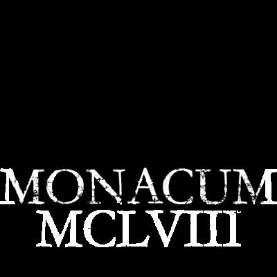 Monacum 1158 München Skyline Vintage - Monacum MCLVIII: Wie eine alte Inschrift wirkt dieses lateinische Design, das an die erste urkundliche Erwähnung der Stadt München als Markt im Augsburger Schied aus dem Jahr 1158 erinnert. - wahrzeichen,stadt münchen ansicht,römer sehenswürdigkeiten,münchner silhouette,muenchen kirchen,frauenkirche römisch,bayrische lateinische sprüche,bayrisch lateinisch,bayern latein römischer spruch