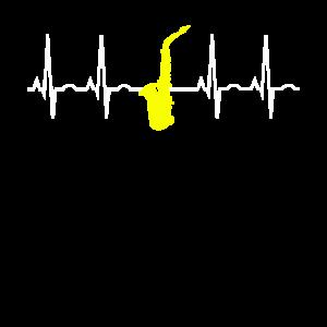 Saxophon Pulsschlag Musikliebhaber Geschenk