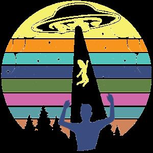 Cooles Alien Ufo Geschenk T-Shirt