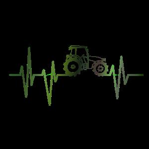 Traktor Herzschlag Puls Landwirt Trecker Geschenk