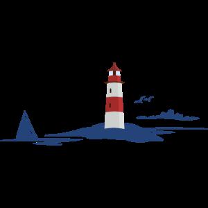 Leuchtturm in maritimer Landschaft