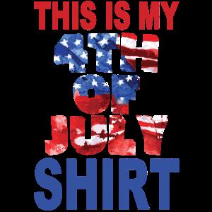Dies ist mein 4. Juli Shirt