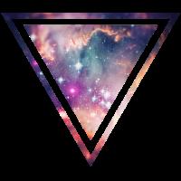 Galaxie - Weltraum - Universum / Hipster Dreieck