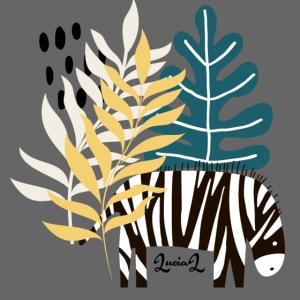 Zebra in savannah