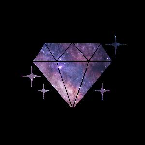 Diamant mit Nachthimmel
