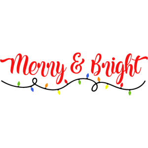Merry and Bright Weihnachts Motiv