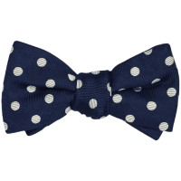 Fliege blau weiß gepunktet plaid bow ties Ascot