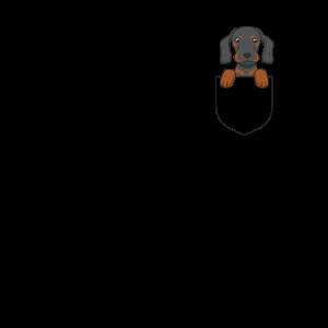 Hund - Dackel - Brusttasche