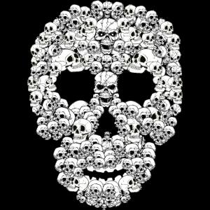 Totenkopf aus Totenköpfen