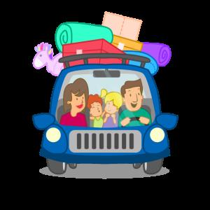Familien Ausflug Reise im Auto Geschenk