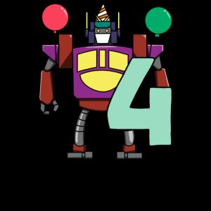 4. Geburtstag Roboter Party Vierter Kinder
