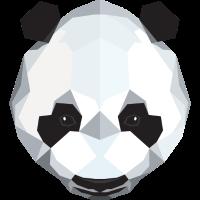 Cute Panda Illustration (Low Poly)