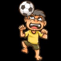 Fußballer Junge mit Fußball
