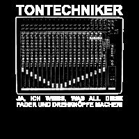 Tontechniker Geschenkidee Mischpult Studio Live