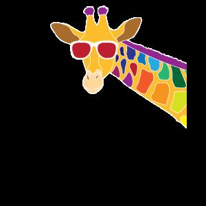 Giraffe mit Sonnenbrille Durchblick Cool Geschenk