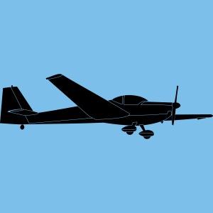 C Falke Motorsegler Segelflugzeug Segelflieger