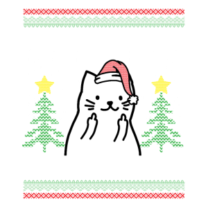 Lustiges Katzenweihnachtsgeschenk