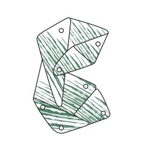 Lettera B verde