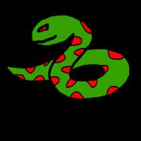 Boese Schlange Rote Flecken Geschenk