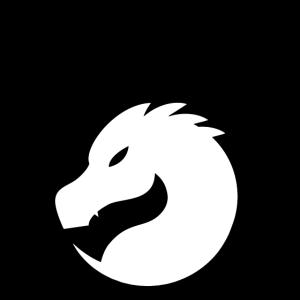 schwarz weißer Drache