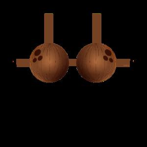 Kokosnus BH Bikini Kostüm