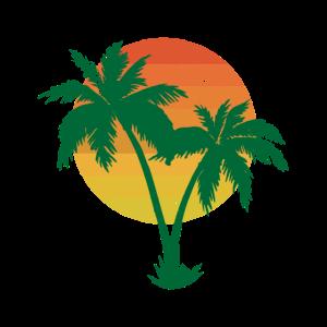 Sommer Palmen Urlaub Retro Geschenk