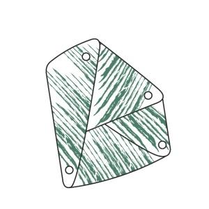 green letter D