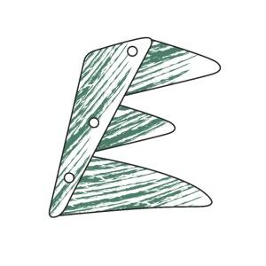lettera verde E