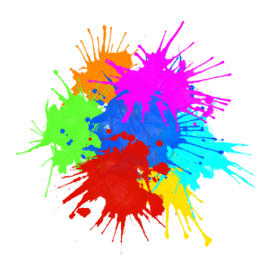 Text Background - Colorful Splashes 1