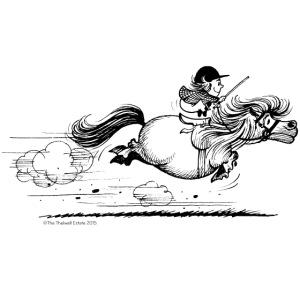 Thelwell Cartoon Pony Sprint