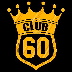 Club 60 Krone Gold 60. Geburtstag Bday Geschenk