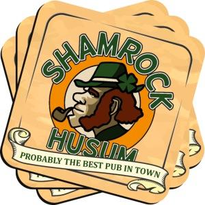 Shamrock Husum Logo Bierdeckel