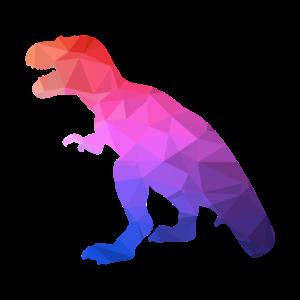 Geometrisches Tier Geometric Dino Dinosaurier