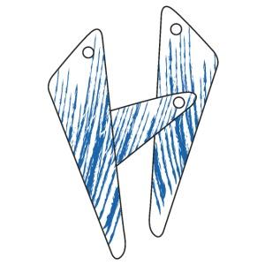 lettera H blu