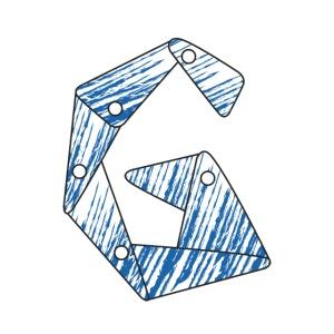 lettera G blu