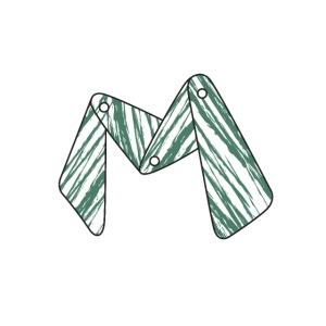 lettera M verde 01