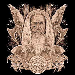 Portrait einer Illustration von Odin Geschenk