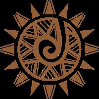 neues Stammes- Wiedergeburtsbraun