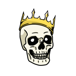 Skull Totenkopf Schädel Tod Gruftie Jenseits König