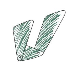 Lettera U verde